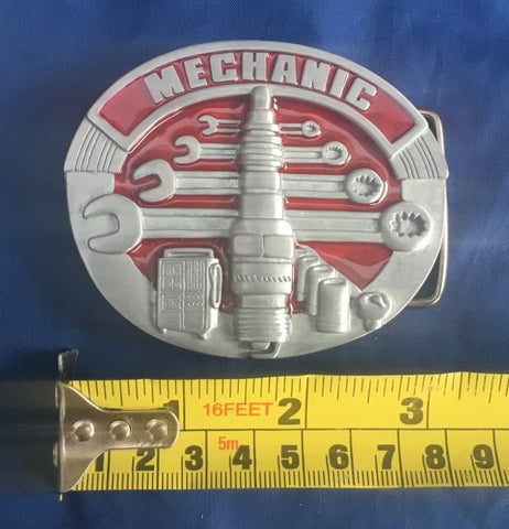 Mechanic - Metal Belt Buckle
