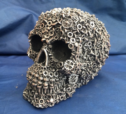 Steampunk Nuts, Bolts & Screws Skull by Puckator