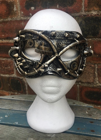 Steampunk Studded Facade Mask by Nemesis Now