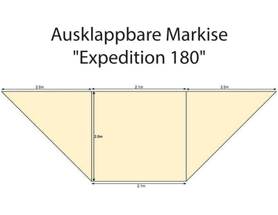 "Ausklappbare Markise ""Expedition 180"" - Direct 4x4 Autozubehör"