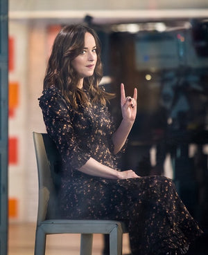 Dakota Johnson wearing The Vampire's Wife Classic Liberty Cate Dress