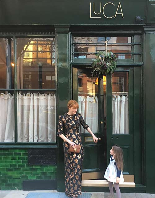 Florence Welch wearing The Bronze Lamé Cate Dress