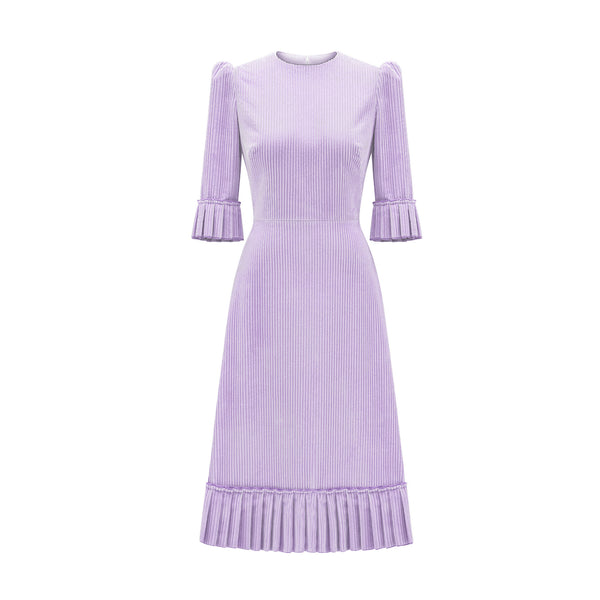THE LILAC CORDUROY DAY DRESS