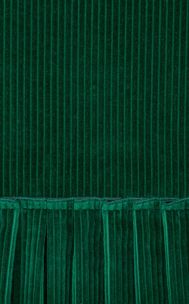 THE EMERALD CORDUROY DAY DRESS