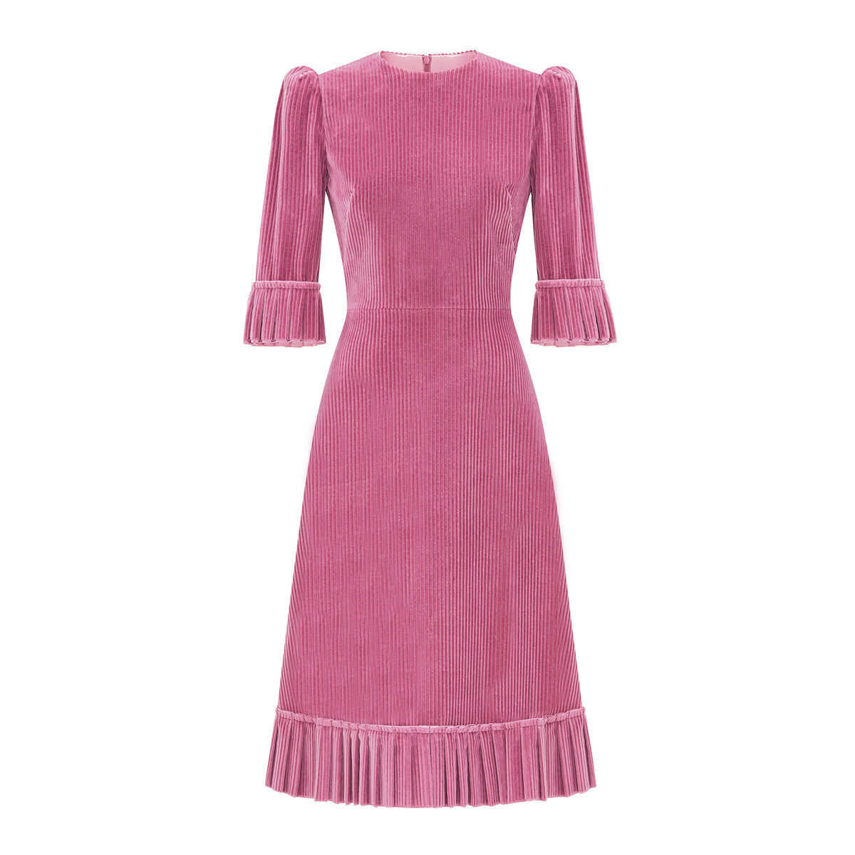 THE DUSTY ROSE CORDUROY DAY DRESS