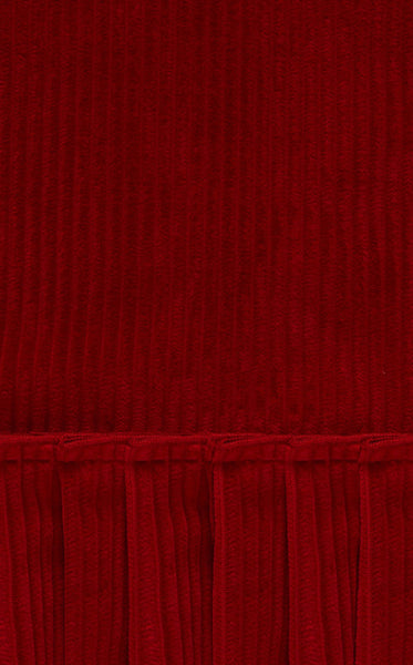 THE CARDINAL RED CORDUROY FESTIVAL DRESS