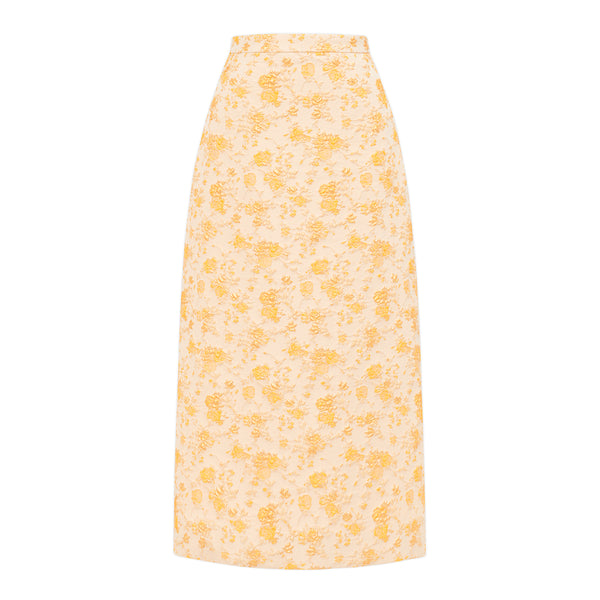 THE GOLD BROCADE PUSSAMINA SKIRT