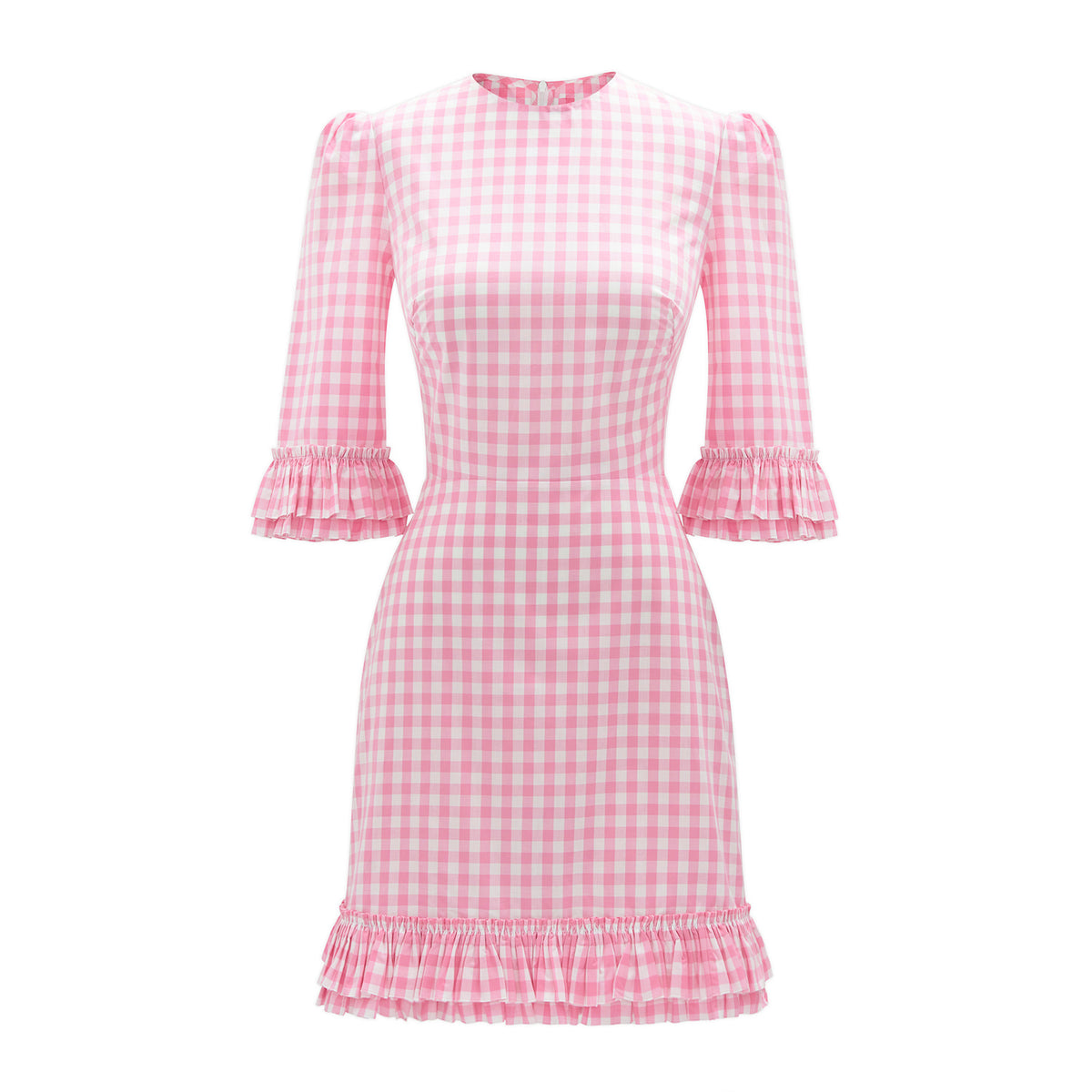 THE PINK GINGHAM MINI FESTIVAL DRESS