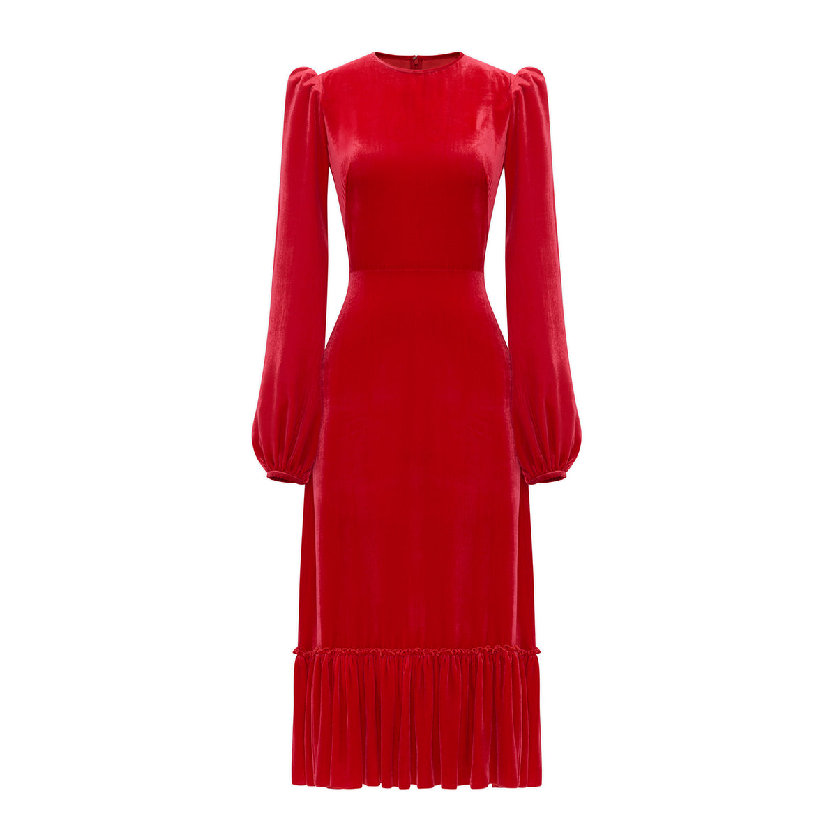 THE RED VELVET VENERATION DRESS