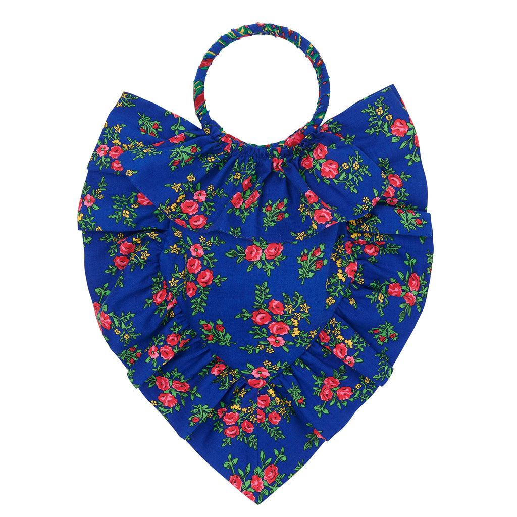 THE BLUE GYPSY COTTON SACRED HEART BAG