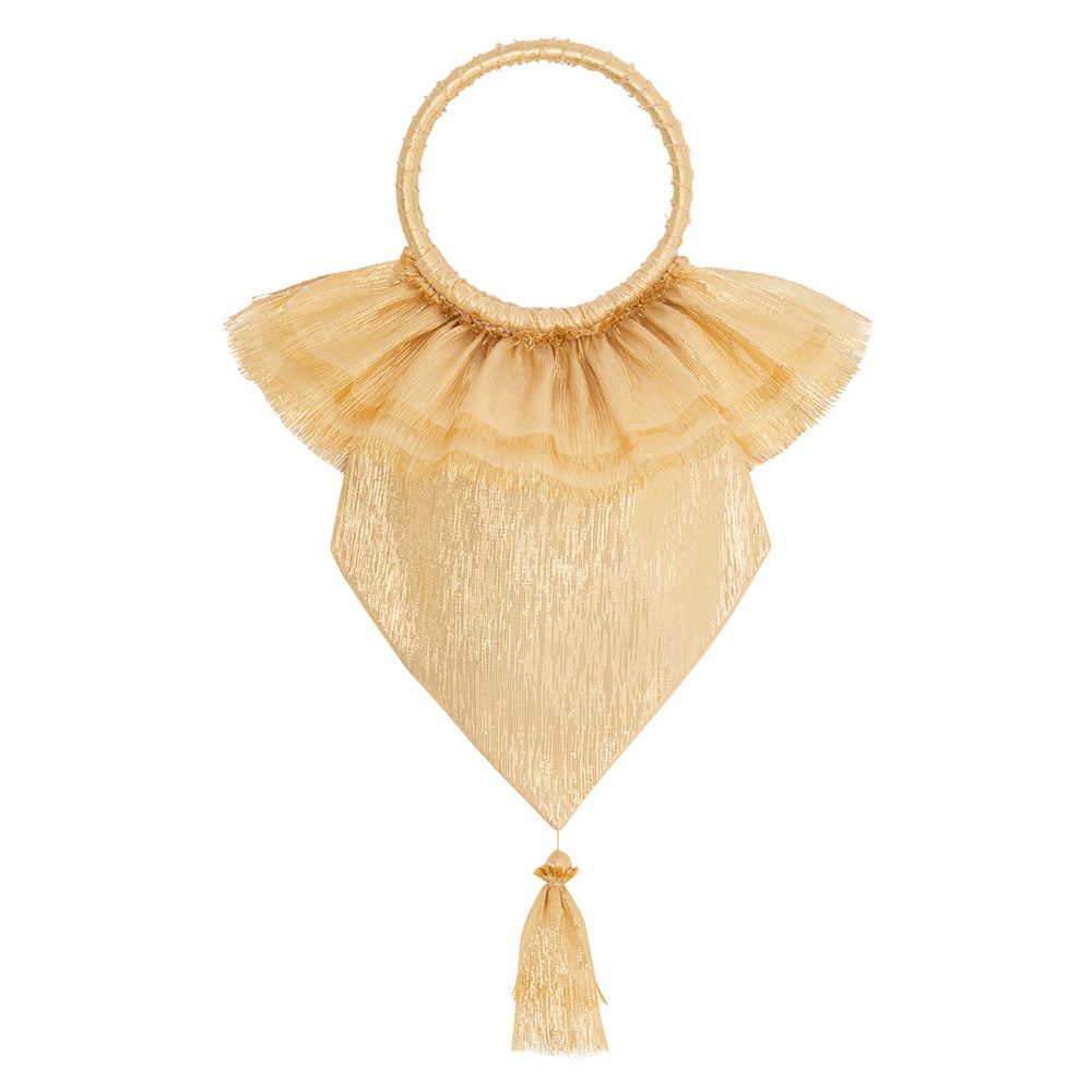 THE GOLD METALLIC SILK VENERATION BAG