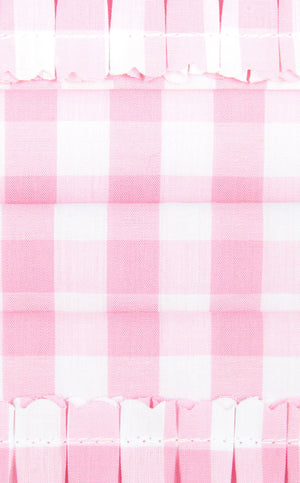 The Pink Gingham Face Mask