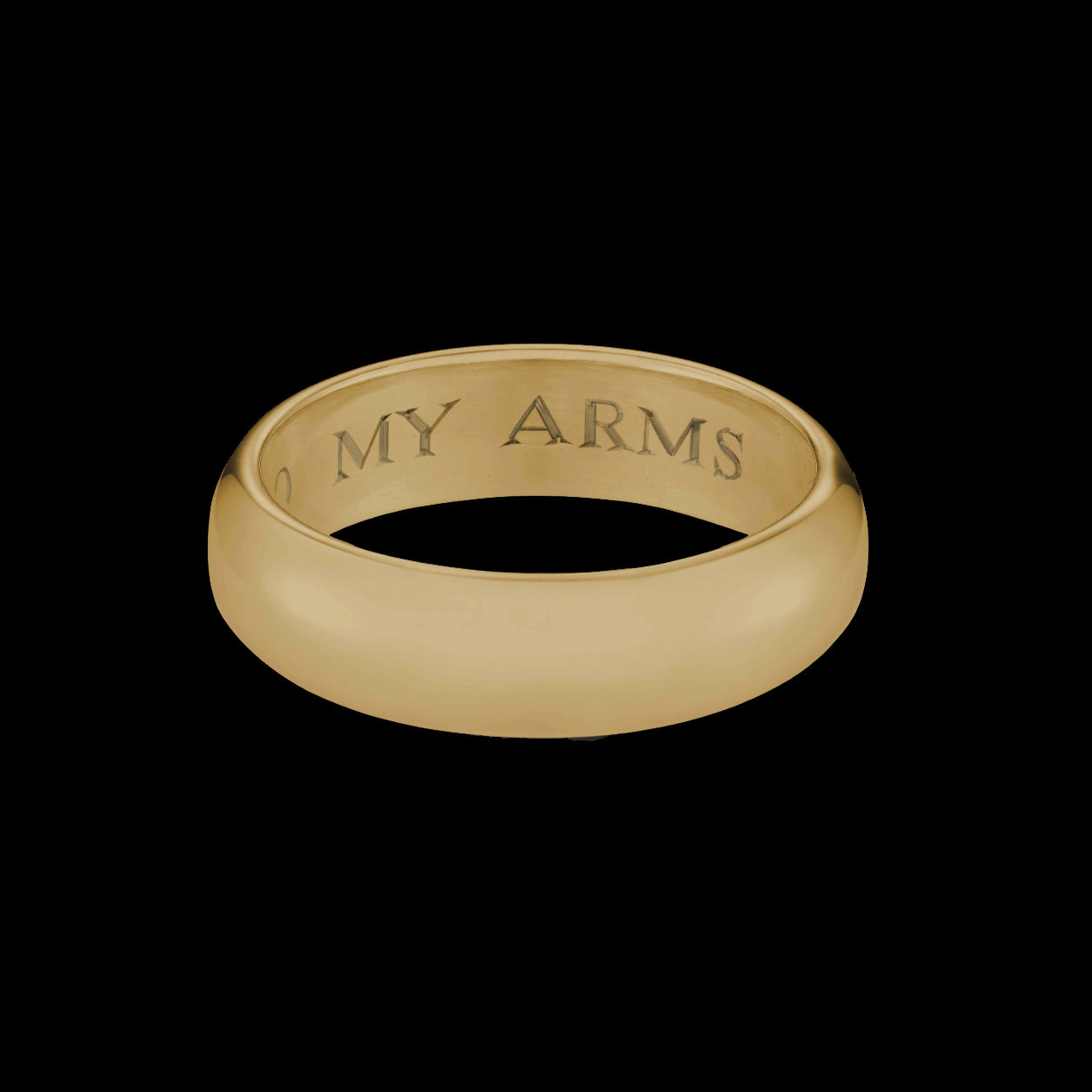Gold 'Into My Arms' Posy Ring