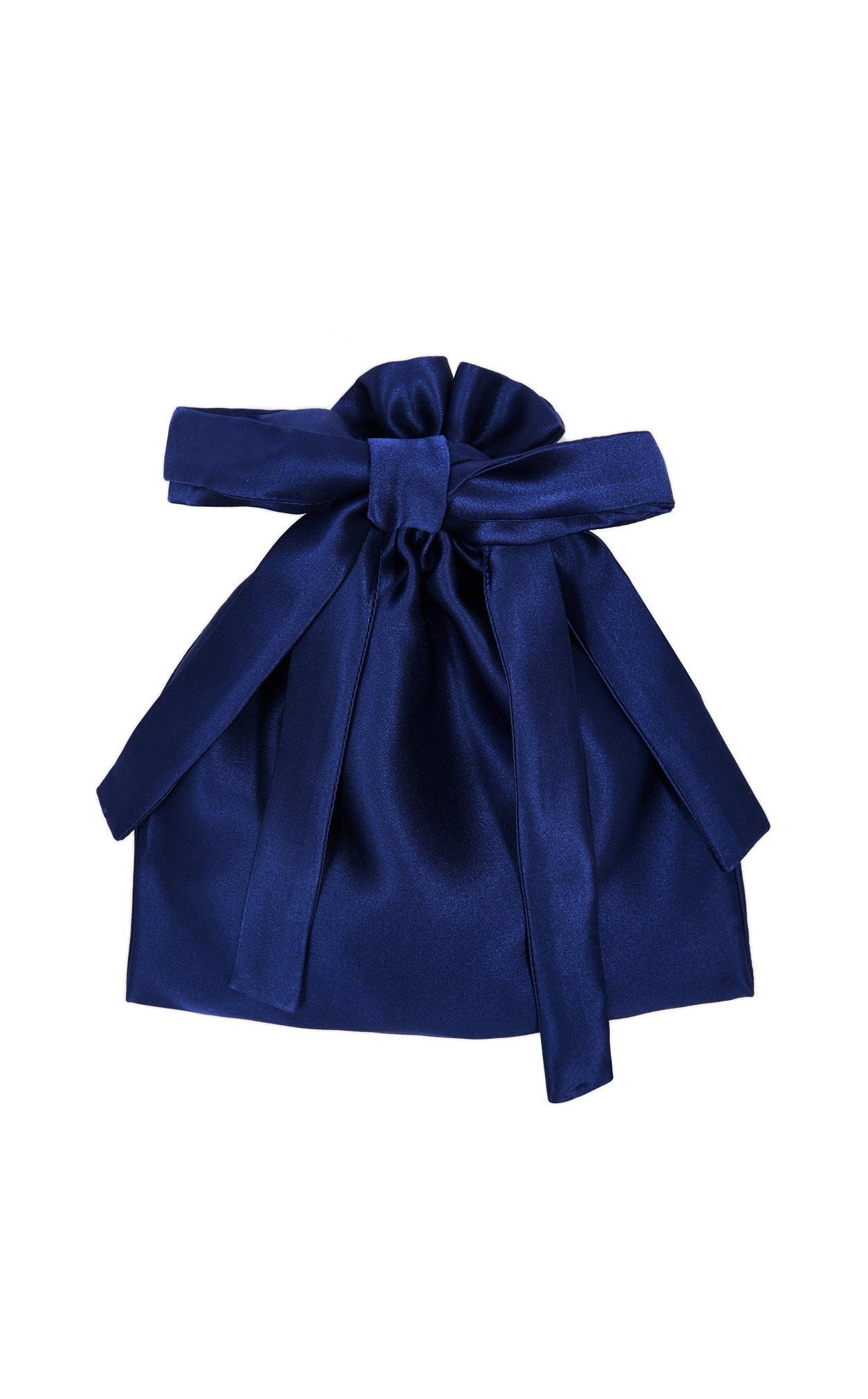 THE BLUE SILK FRILL FACE MASK with BAG