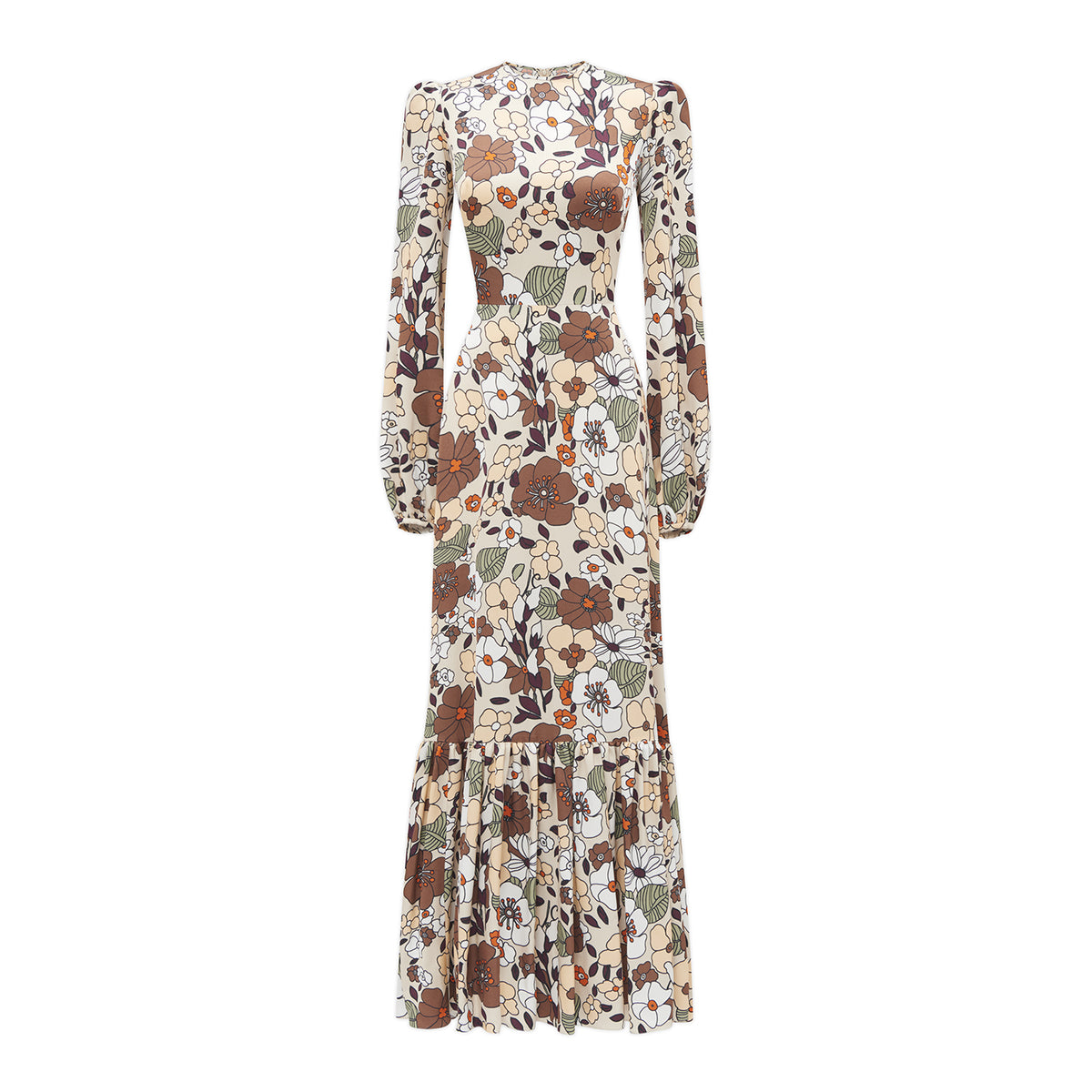 THE FLORAL CRÊPE BELLE DRESS