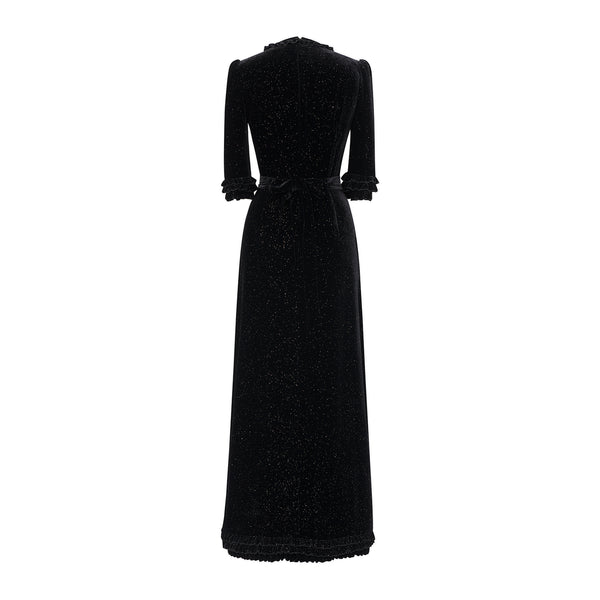THE STREET SWEEPER SPARKLE VELVET CATE DRESS