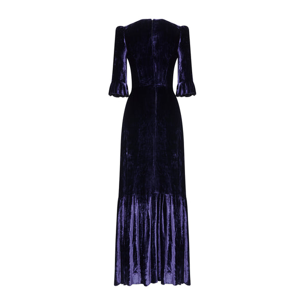 MIDNIGHT VELVET FESTIVAL DRESS