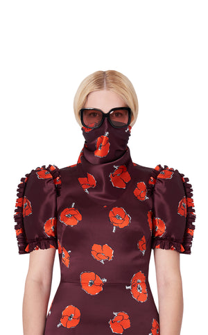 The Falling Poppies Face Scarf