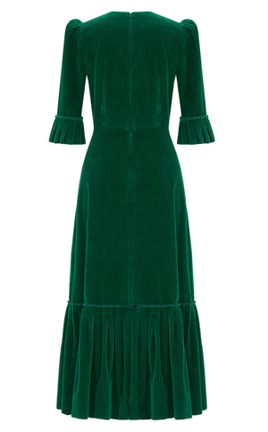 THE EMERALD CORDUROY FESTIVAL DRESS