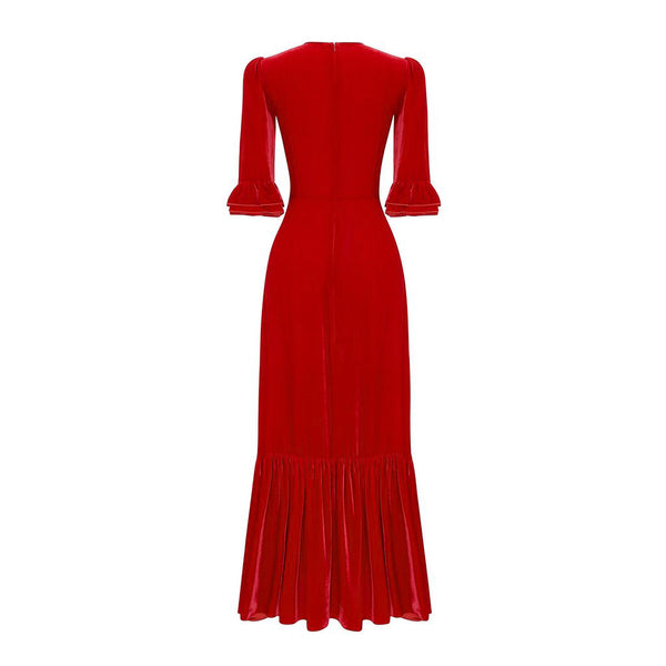 THE SCARLET VELVET FESTIVAL DRESS