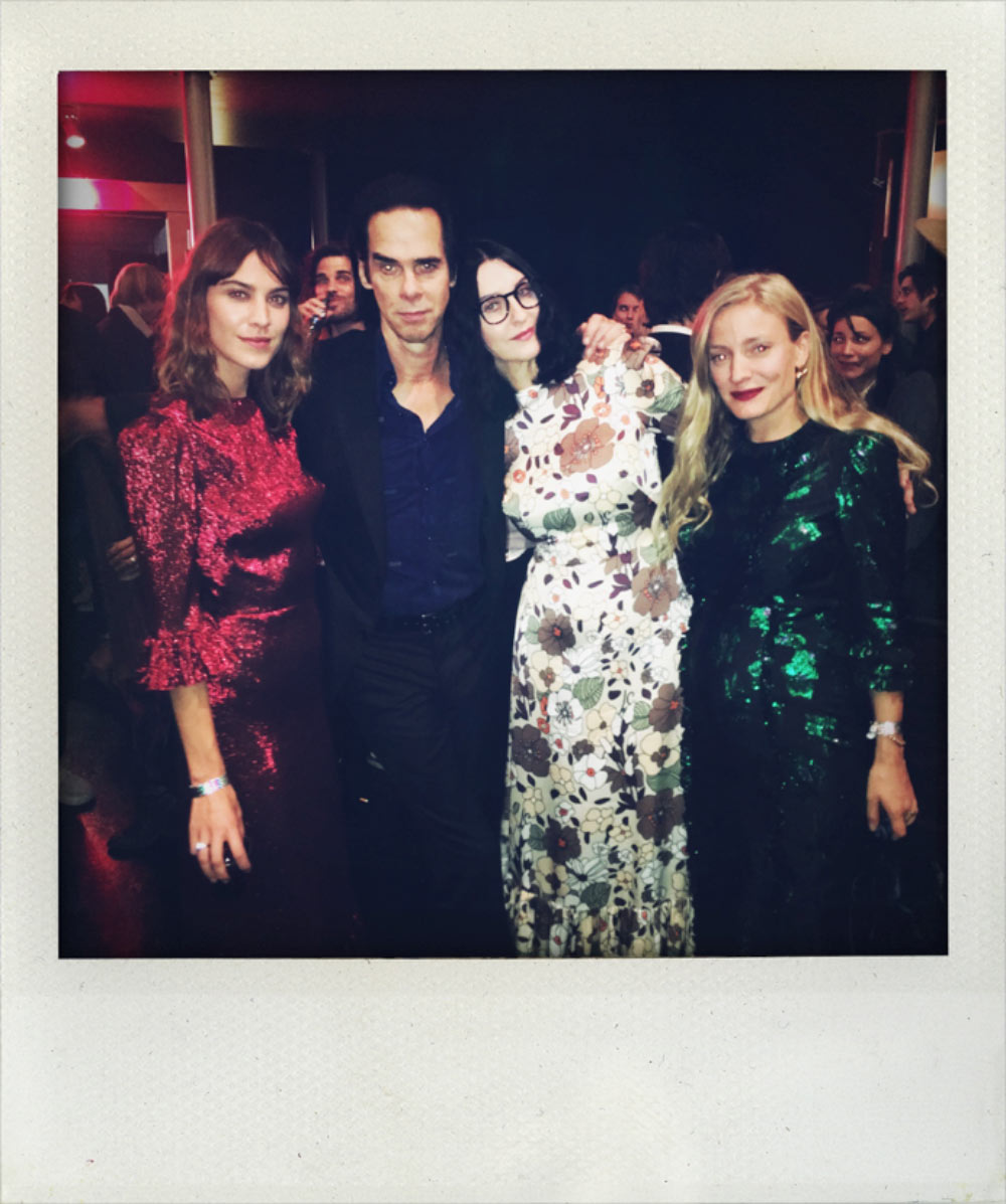 Alexa Chung, Susie Cave and Kate Foley wear The Vampire's Wife