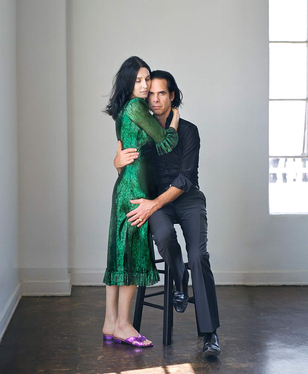 Susie Cave with husband Nick for British Vogue