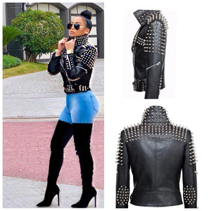 Studded Moto Jacket(please refer to description)