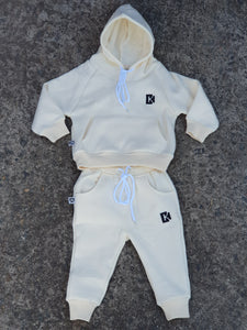 Tracksuit Set - Cream