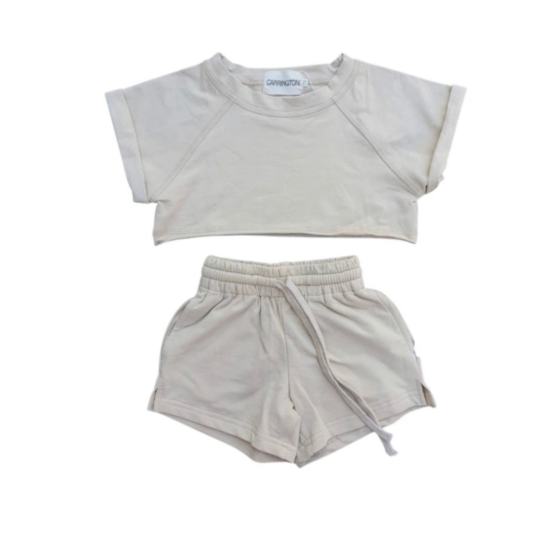 Crop Set - Beige