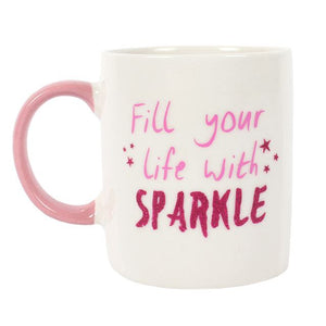"Ceramic Mug ""Fill your life with Sparkle"" - A Pinch of Love Gifts"