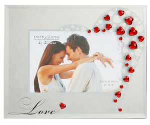 Love Crystal Hearts Frame - A Pinch of Love Gifts
