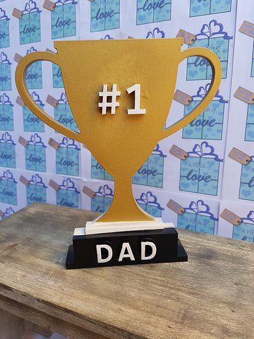 Number 1 Dad Trophy - A Pinch of Love Gifts