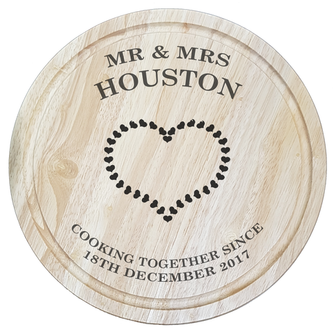 mr and mrs personalised engraved chopping board