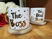 Load image into Gallery viewer, The Boss & Real Boss Mugs - A Pinch of Love Gifts
