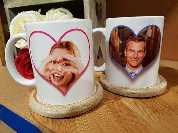 Pair of 'The Boss' 'The Real Boss' Personalised Photo Mugs - A Pinch of Love Gifts