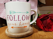 "Load image into Gallery viewer, Ceramic Mug ""Follow your Heart"" - A Pinch of Love Gifts"