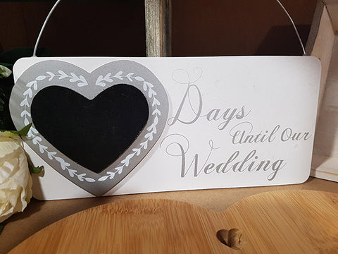 days until our wedding plaque hanger