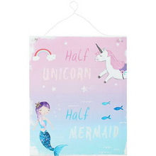 "Load image into Gallery viewer, Metal Sign - ""Half Unicorn, Half Mermaid"" - A Pinch of Love Gifts"