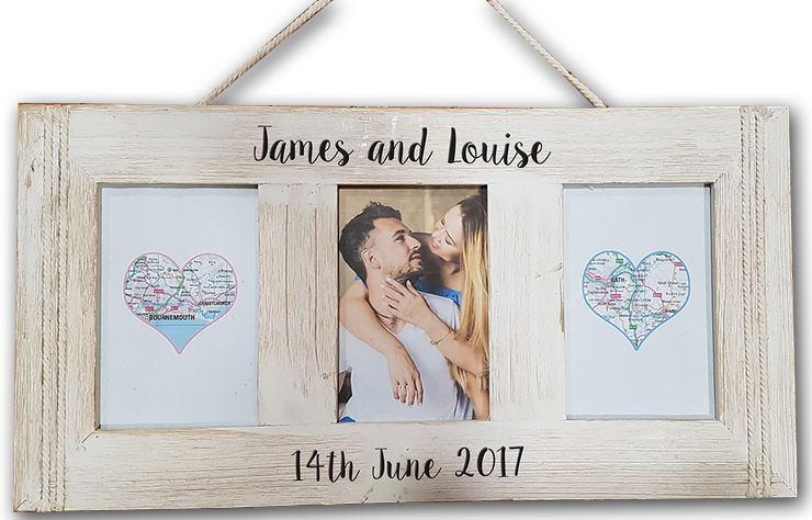 Anniversary Personalised Engraved Photo Frame - A Pinch of Love Gifts