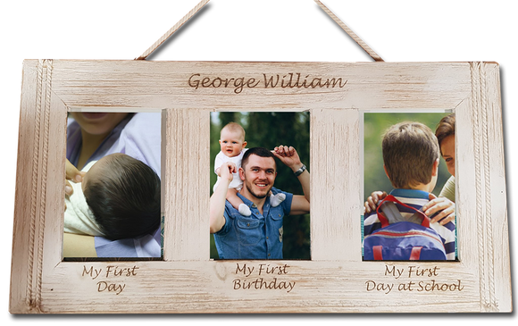 3-Photo Engraved Photo Frame - A Pinch of Love Gifts