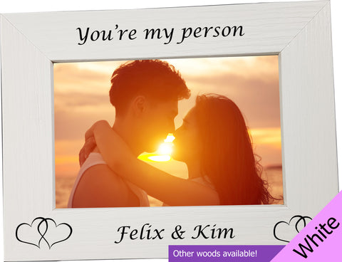 "Personalised ""You're my person"" Photo Frame - A Pinch of Love Gifts"
