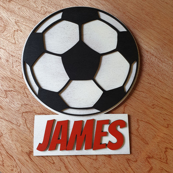 Football name plaque - A Pinch of Love Gifts