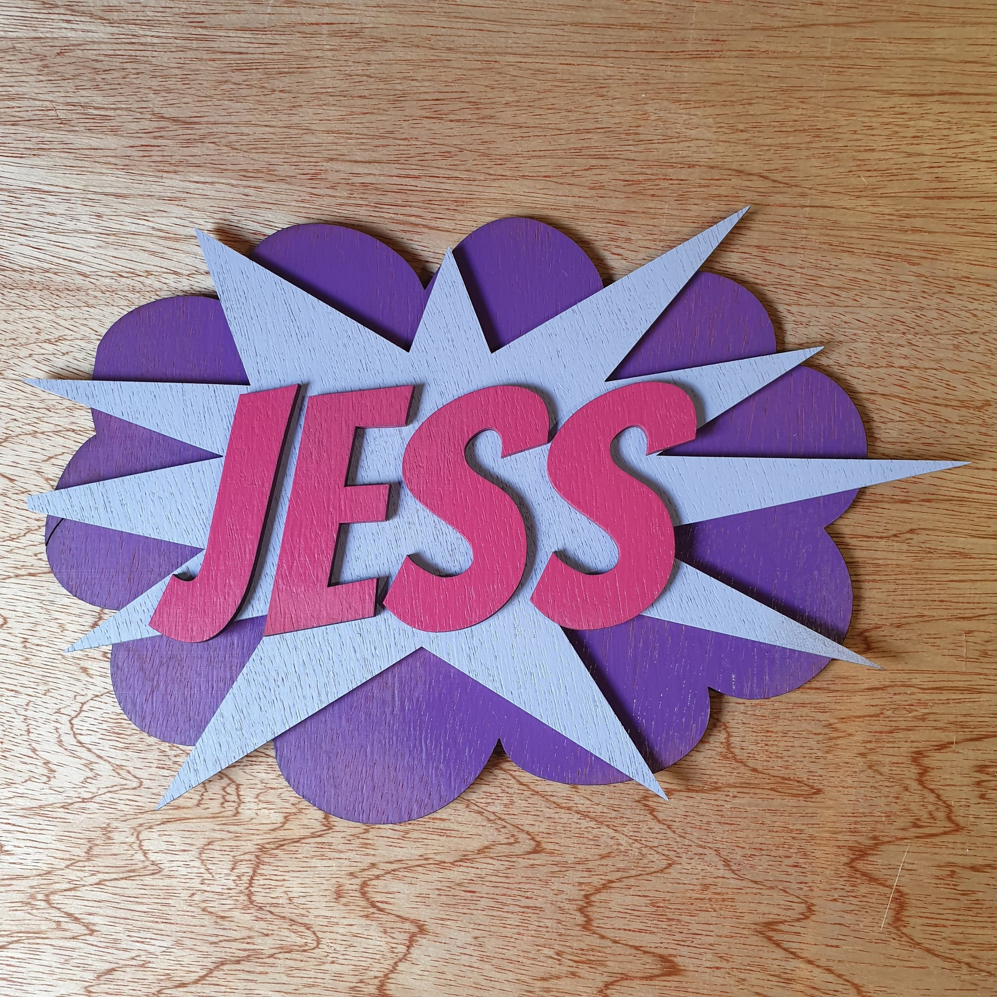 Super Hero name plaque style 2 - A Pinch of Love Gifts