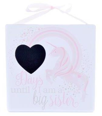 "Wooden Plaque ""Days until i'm a big sister"" - A Pinch of Love Gifts"