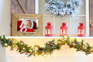 Personalised First Christmas Photo Frame - A Pinch of Love Gifts