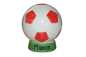 Hand Painted Football Money Box