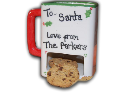Hand Painted Milk & Cookies Mug