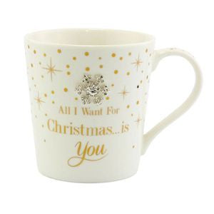 "Ceramic Mug ""I want you for Christmas"" - A Pinch of Love Gifts"