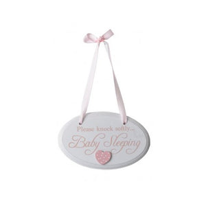 Baby Sleeping Pink Door Hanger