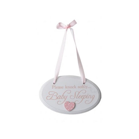 Baby Sleeping Pink Door Hanger - A Pinch of Love Gifts